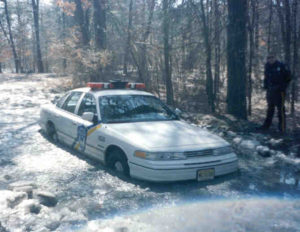 Police Stuck in the Ice