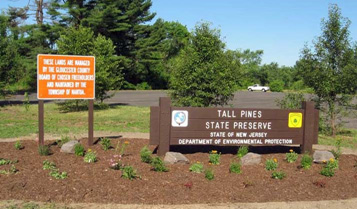 Tall Pines Park Sign in Mantua Township
